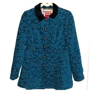Free People Turquoise Pea Coat