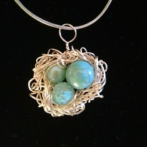 Jewelry handmade birds nest pendant poshmark handmade birds nest pendant aloadofball Choice Image