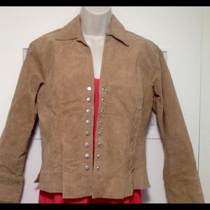 Coldwater Creek  Leather Jacket Size P S