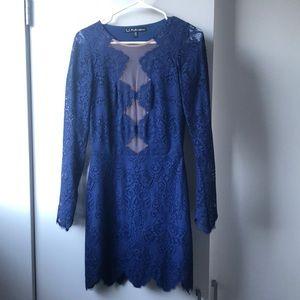 For Love and Lemons Noir Lace Mini Dress