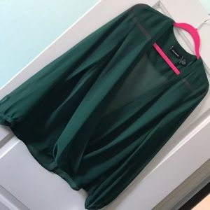 Forest Green NWT M drape top