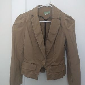 Anthropologie LIL brown Blazer