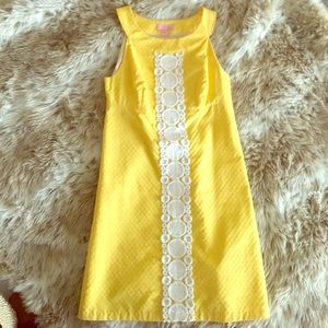 Lilly Pulitzer 00 Yellow A-Line Dress