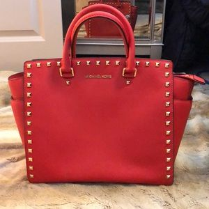 Michael Kors Studded Selma Satchel - LIKE NEW