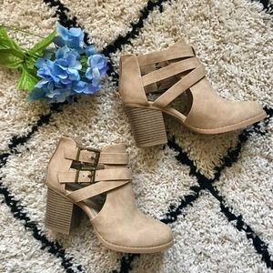 Charlotte Russe Taupe Booties