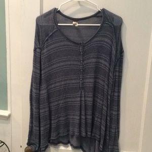 Blue Free People Sweater