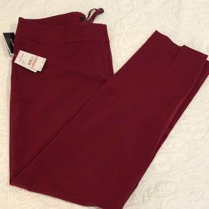 NWT NINE WEST STRETCH DRESS PANTS Bordeaux 10