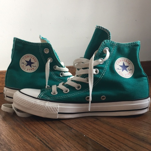 2bc2ad21a454 Converse Other - MINT High Top Teal Chuck Taylors Wmns Sz 6 Youth 4