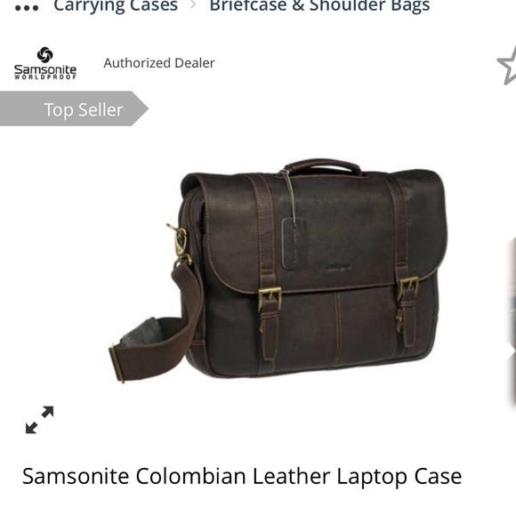 Samsonite Colombia Leather laptop case. M 5a2d663b4127d059c8013fe4 29115bd8cd538