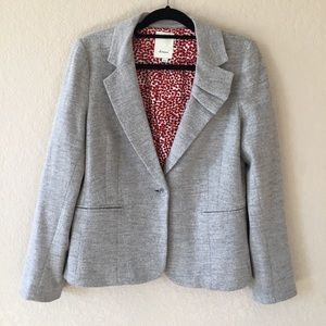 Anthropologie Elevenses Blazer
