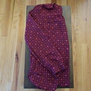 Burgundy long sleeve Gap blouse NWOT
