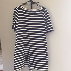 Navy and white striped dress from GAP