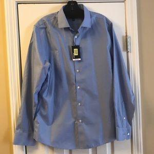 Murano Men's Slim Fit Blue Button Down Shirt