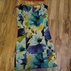 (54A) Floral Design Dress