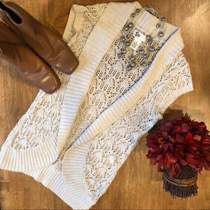 Cream Crocheted Vest