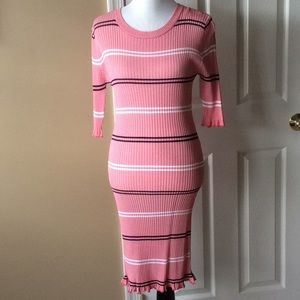 Ribbed knit dress, originally from Golden Tote.