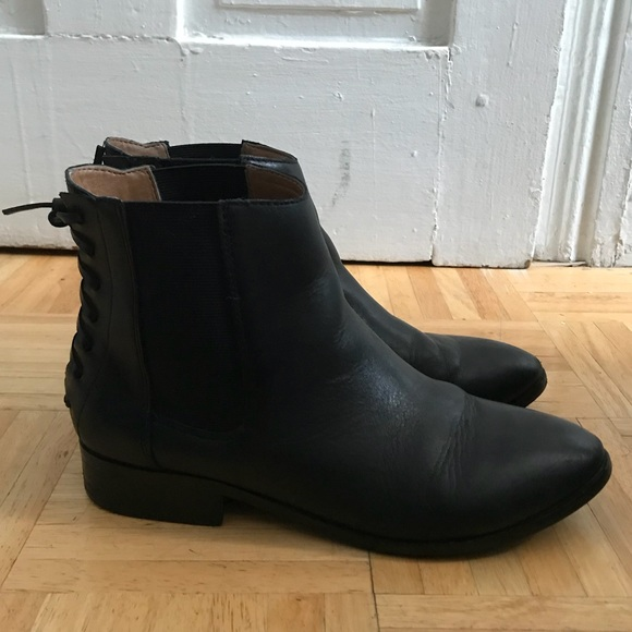 lace up back chelsea boots