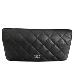 Chanel Quilted Bifold Porte Yen Wallet