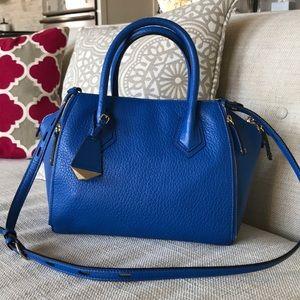 Rebecca minkoff blue gold satchel