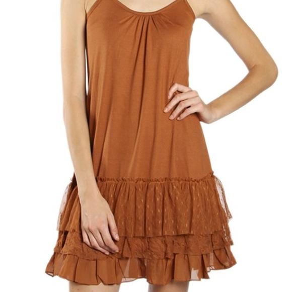 b02ef5b89a A'Reve Dresses | Ladies Rust Lace Trim Slip Dress Extender | Poshmark