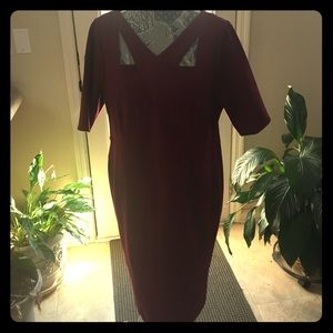 STUNNING MERLOT DRESS- Lane Bryant Sz 16