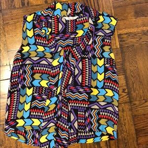 Tucker Multicolor Silk Blouse