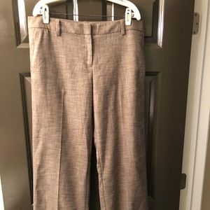 The Limited brown wide-legged dress pants.