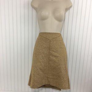 Anthropologie Elevenses wool blend straight skirt