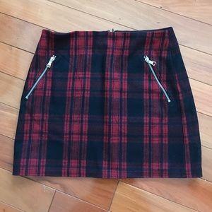 Cute plaid wool mini skirt