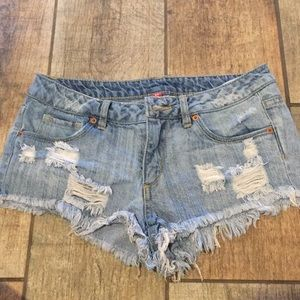 H&M ripped jean shorts