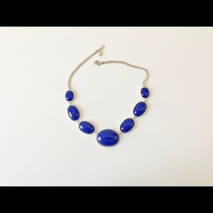 Signed J. Crew Cobalt Blue Necklace with pouch