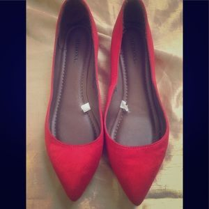 Red Merona flats. Perfect condition. Size 7