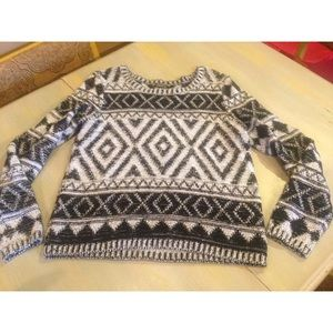 LUCKY Brand Sweater M Black White