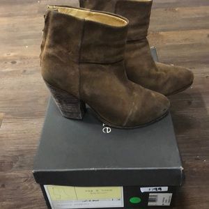 Rag and bone newbury booties suede brown size 6