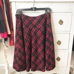 Ralph Lauren plaid flannel skirt