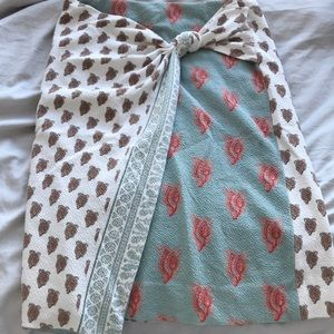 Patterned stretchy anthro skirt