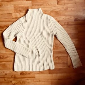 Wool blend cream colored sweater