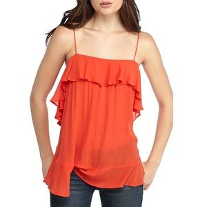 Free People Cascading Cami Red
