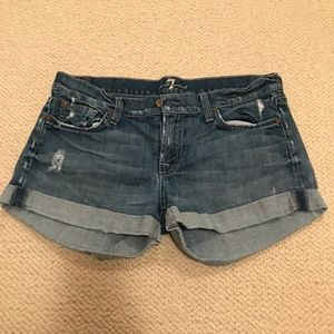 7 For All Man Kind denim shorts