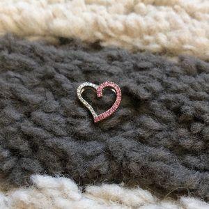 14K White Gold Heart Pendant