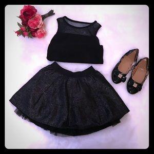 🎄 GAP Kids Girls Fun Sparkly Black skirt 6-7 🎄