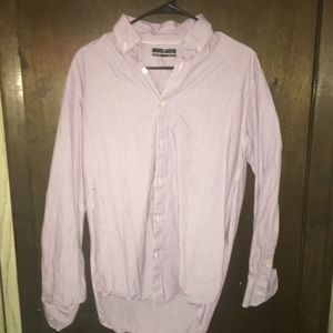 Five Four Purple Striped Dress Shirt