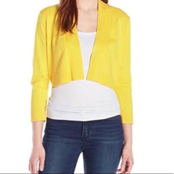 74% off Calvin Klein Sweaters - Bright Yellow Calvin Klein shrug ...