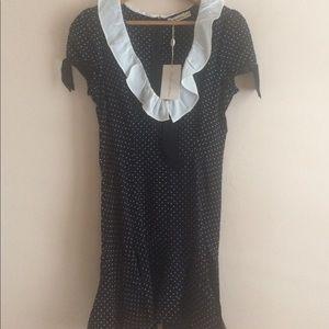 NWT For Love and Lemons Bianca mini dress
