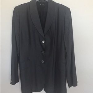 ANN FREEDBERG GRAY SKIRT SUIT