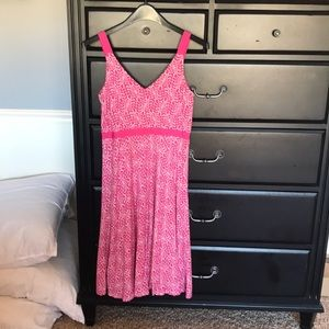 Summer hot pink dress