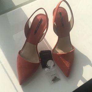 Zara sling back pumps never worn size 38 7 1/2