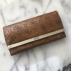 Classic Leather Embossed Guess Wallet Gucci Zipper