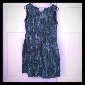 Zara fit and flare dress with v neck back size M