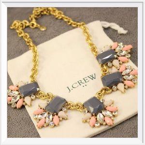 NWOT J. Crew Crystal Flower Bib Necklace